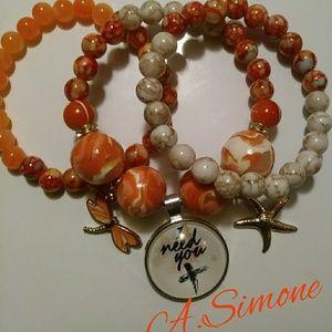 Marble bracelet set